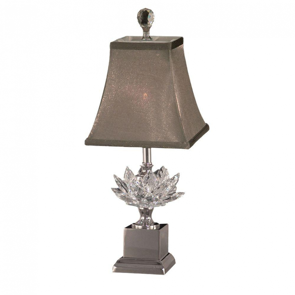fan dale tiffany lucinda polished nickel accent lamp with adorable crystal table lamps your home design seat bar wooden storage trunk decorative accessories for dining room brown