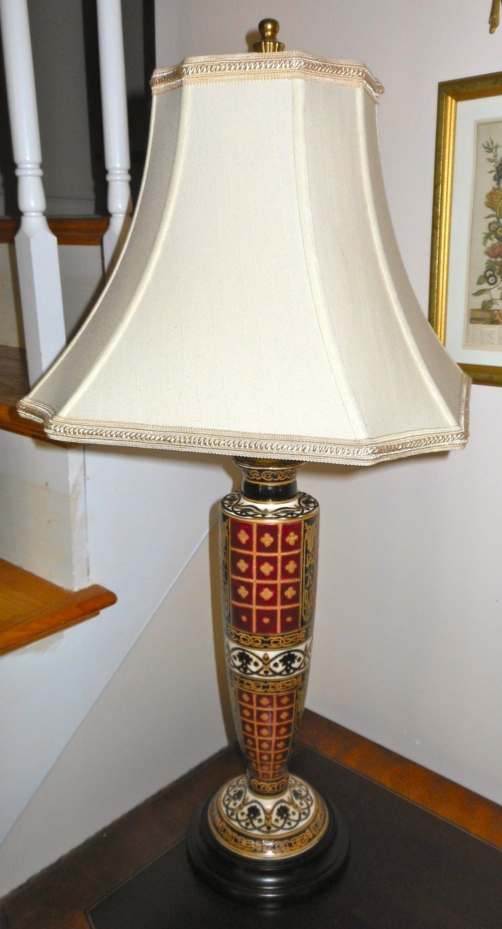 fantastic porcelain table lamp decorated shades blue red and oriental accent lamps gold from accents white mats leg kit threshold end leather dining chairs resin wicker side