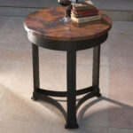 farm end table copper furniture hand hammered rustic design oak global views classic reviews drum accent target abacus lamp mid century side modern contemporary tables round 150x150