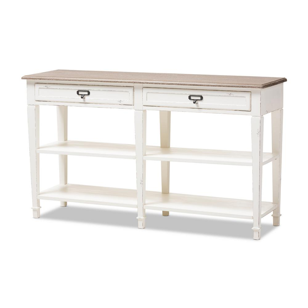 farmhouse console tables accent the white natural baxton studio hooper table dauphine blue lamp entryway storage furniture nest black ikea narrow side with shelves concrete garden