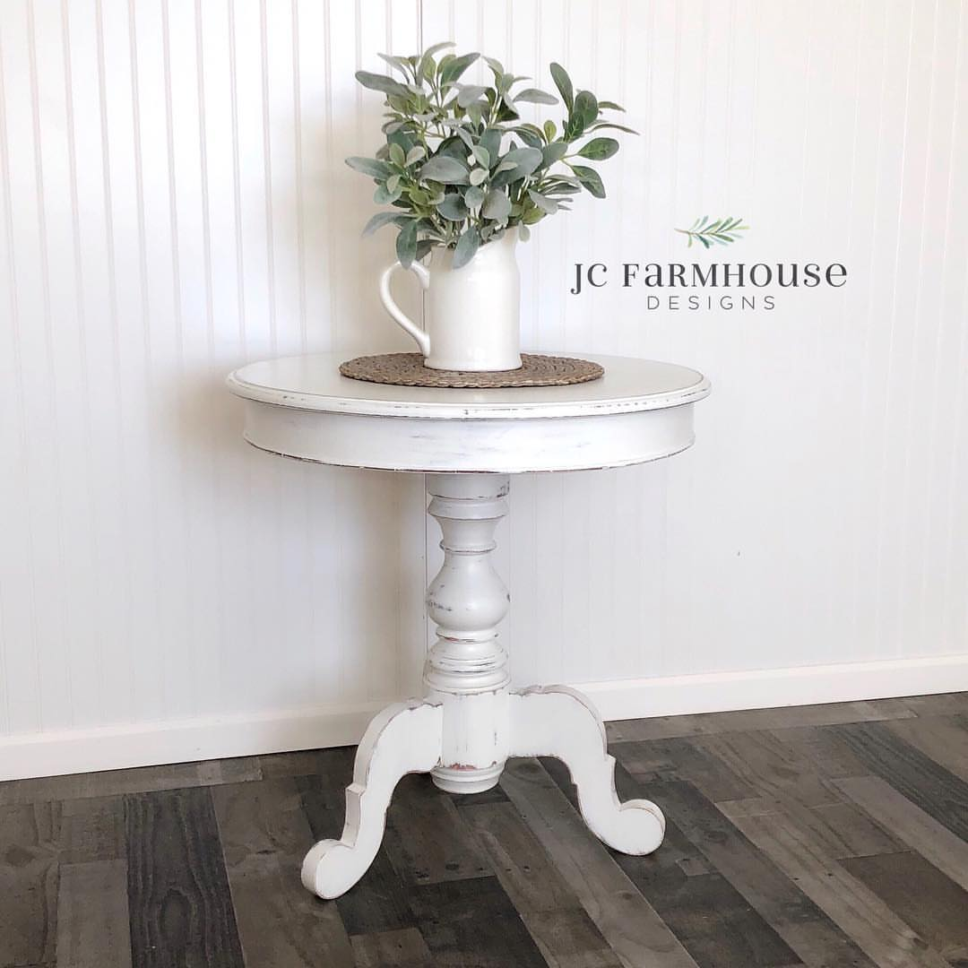 farmhouse designs medias gra white accent table carousel jcfarmhousedesigns with caption beautiful refinished glass bedside units leather bean bag large patio umbrellas nightstand