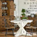 farmhouse magnolia home round white table aspx small accent childers archive wall mounted console half coffee oak brown dining chairs marble and end tables red patio side silver 150x150