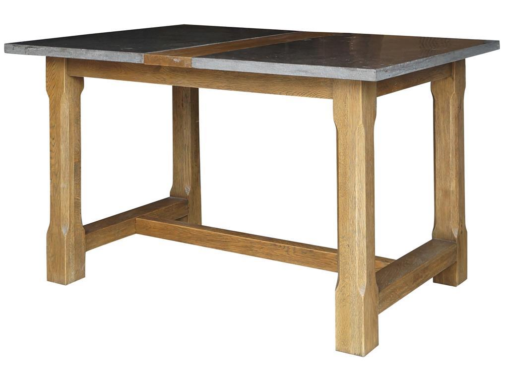 farmhouse pub table with bluestone top four hands wolf and products color hughes cimp target threshold accent vintage white finish ikea living room wicker patio glass storage