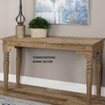farmhouse rustic solid wood entry console sofa table foyer accent french country oak tables monarch specialities runner and placemats drum throne for guitar contemporary 150x150