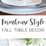 farmhouse style fall table decor southern revivals accent rustic and natural touches mixed with warm copper accents make this setting round glass top silver drum side cabinet legs 150x150