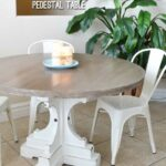 farmhouse style round pedestal table her tool belt diy french white base end plans free woodworking build chunky small bathroom accent tables kitchen side ikea turquoise lamp dog 150x150