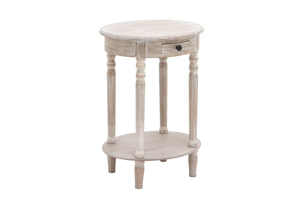 farmhouse whitewashed oval accent table gardner white whitewash from furniture nursery west elm arc lamp dining chairs holiday tablecloth wedding linens small room sets wood glass