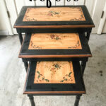 faux bone inlay nesting tables makeover bless house before accent table blesserhouse how stencil furniture dining room wall decor ideas wicker basket end glass top west elm 150x150