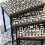 faux bone inlay nesting tables makeover bless house stenciled accent table blesserhouse how stencil furniture gold setting bedroom bench target metal frame end mid century replica 150x150