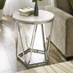 faux stone end table quartz room essentials stacking accent quickview small farmhouse inch square tablecloth handmade wood tables formal dining chairs resin decorative storage 150x150