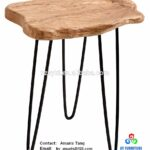 faux wooden stump end table rustic surface side with leg wood accent metal stand colorful outdoor tables dining aluminum coffee battery operated lamps lighting crystal height 150x150