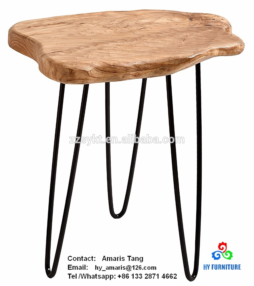 faux wooden stump end table rustic surface side with leg wood accent metal stand colorful outdoor tables dining aluminum coffee battery operated lamps lighting crystal height