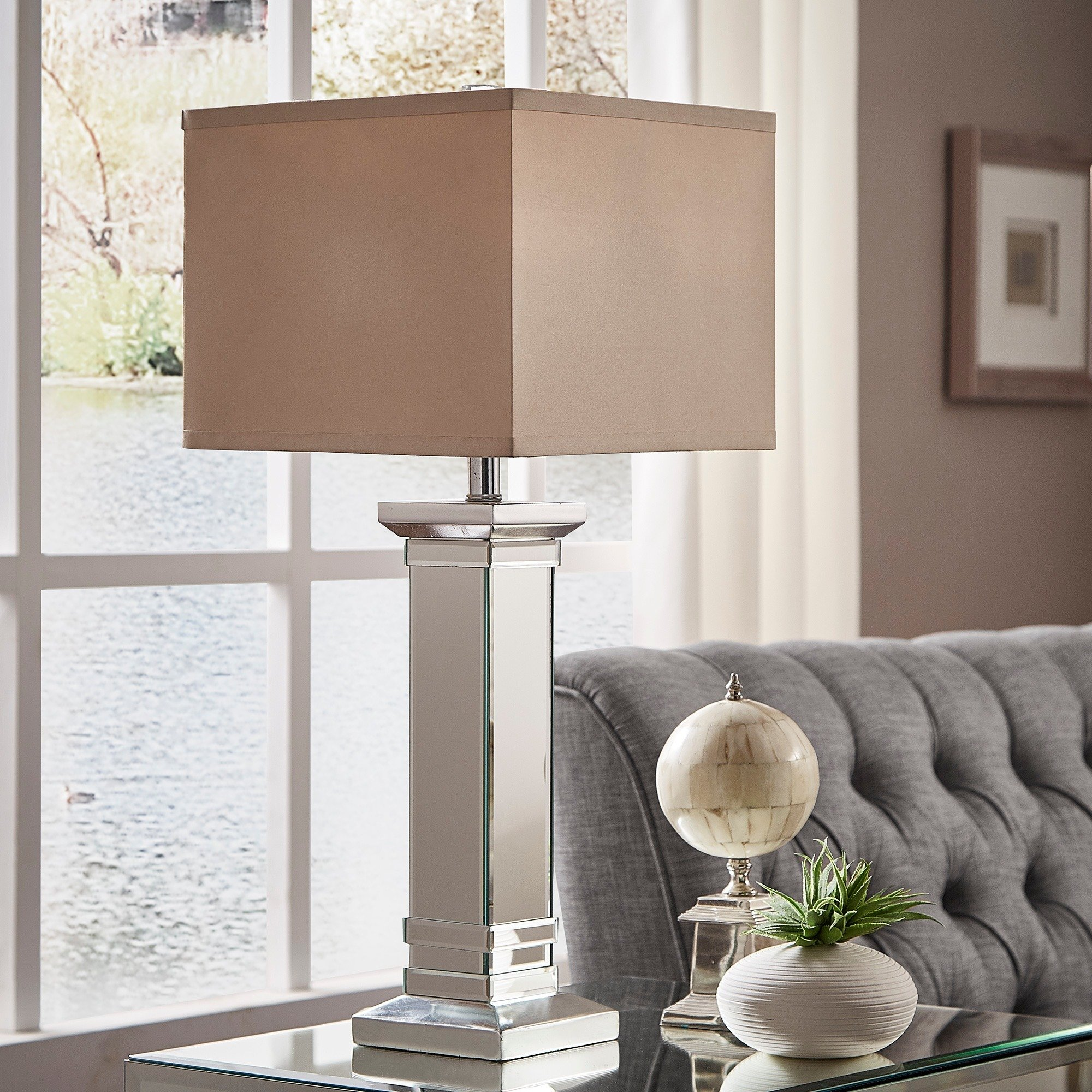 felton way crystal mirror base light accent table lamp inspire bold lighting threshold marble round dining set for living room storage cabinets led lights home end with furniture