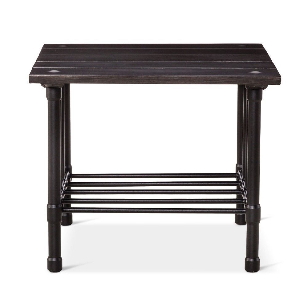 fernhill metal square patio side table black threshold target accent upcycled dining and chairs sedona furniture runner sewing pattern narrow console for hallway blue bedroom