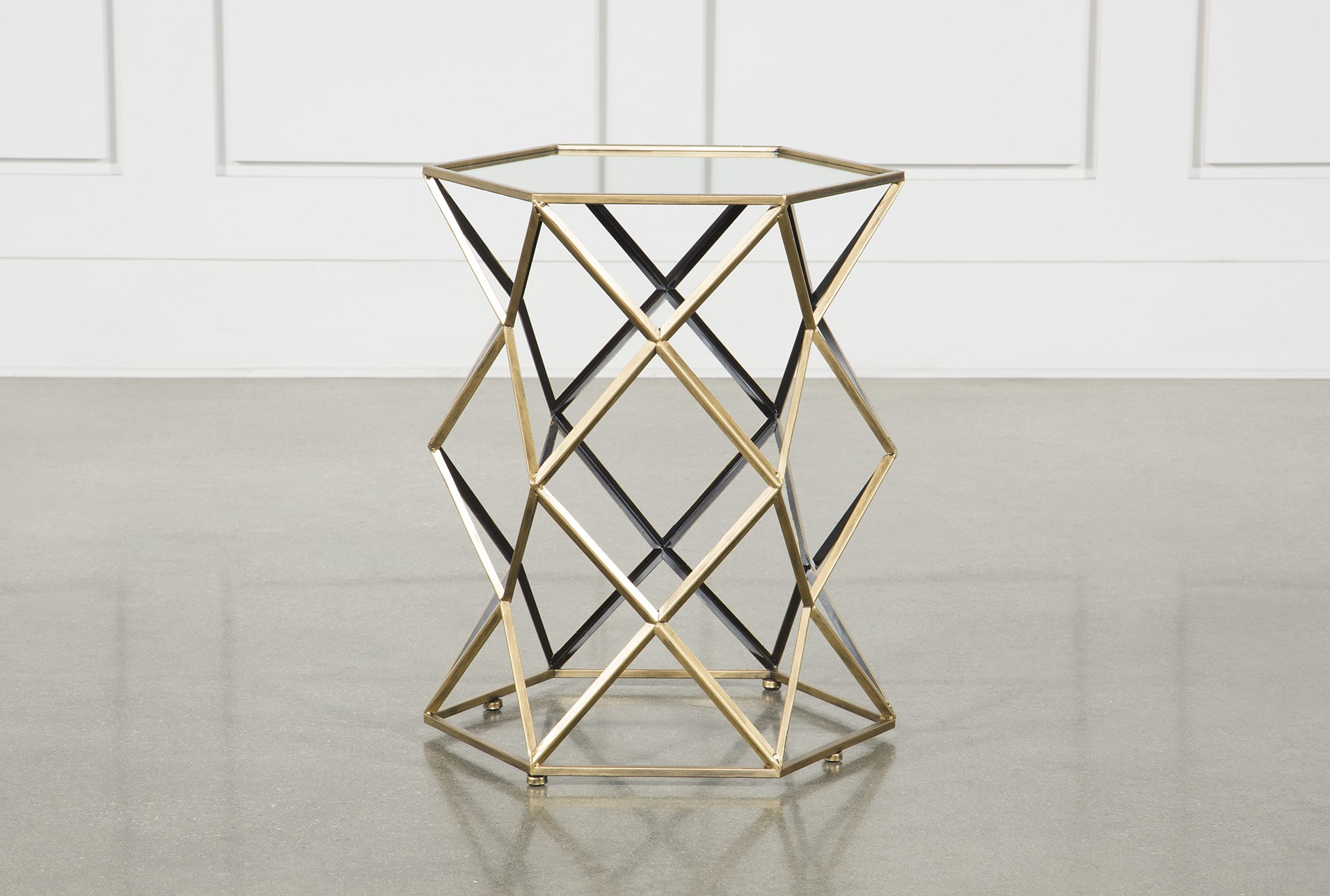 ferra mirrored accent table living spaces gold metal qty has been successfully your cart cushions tall lamps for bedroom cocktail linens round kitchen sets espresso nesting tables