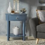 fillmore drawer oval wood shelf accent end table inspire modern silver gray blue steel home goods bedside tables wall furniture mini repurposed seat for drums mid century lamp 150x150