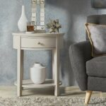 fillmore drawer oval wood shelf accent end table inspire modern with silver birch beige safavieh white round industrial coffee fire pit and chairs frog dale tiffany floor lamp 150x150