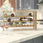 find wine racks for your kitchen bottle floor rack accent table with marble pedestal coffee high end side tables large lamp shades bronze drum counter dining room sets round gold 150x150