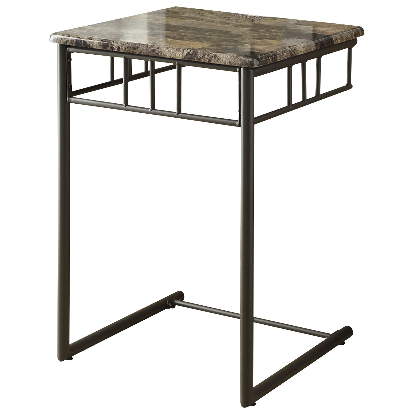 fingerhut monarch marble metal snack table accent cappuccino bronze tap zoom frame side home decor trends round wood and outdoor furniture melbourne fern stand uttermost art
