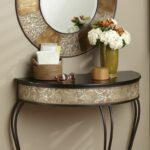 fingerhut river goods round metal mirror accent table set iron tap zoom pottery barn bar wood and side carpet door trim timber trestle legs owings console shelf espresso lounge 150x150