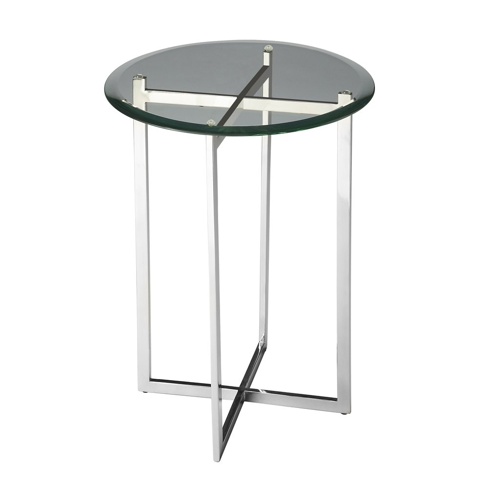 finn modern accent table nickel outdoor tables bedroom design hall console with drawers mirrored glass slim coffee furniture narrow tray live wood foyer chest and end mirror