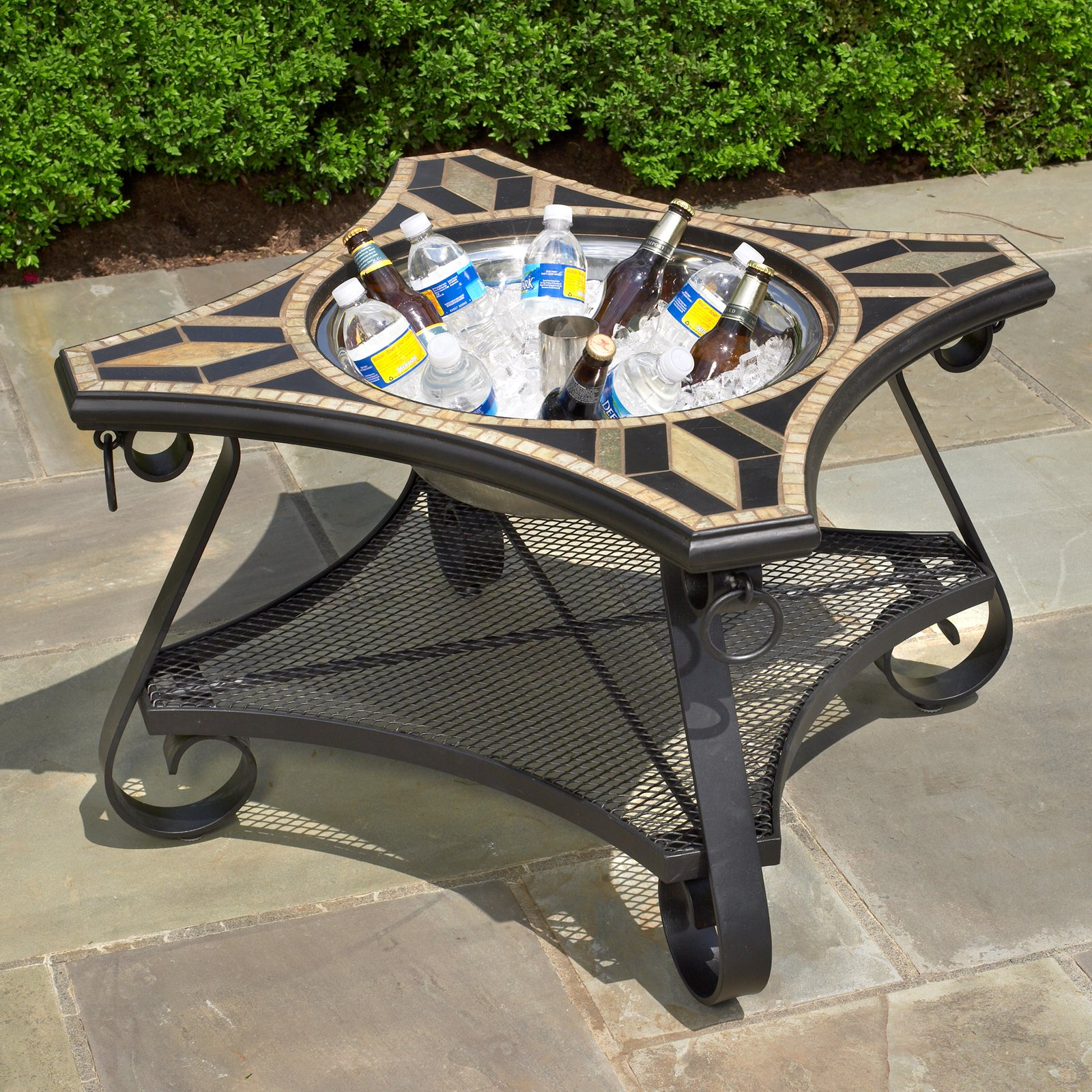 fire pit cooler table pits elegants and comfort all outdoor patio furniture for side with seasons your mccmatricschool pottery barn kitchen sets bags dale tiffany glass hammered
