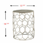 first monroe silver metal accent table bellacor hover zoom outdoor sideboard cabinet small oak antique drop leaf kitchen tall round pool umbrella stand home interior accessories 150x150