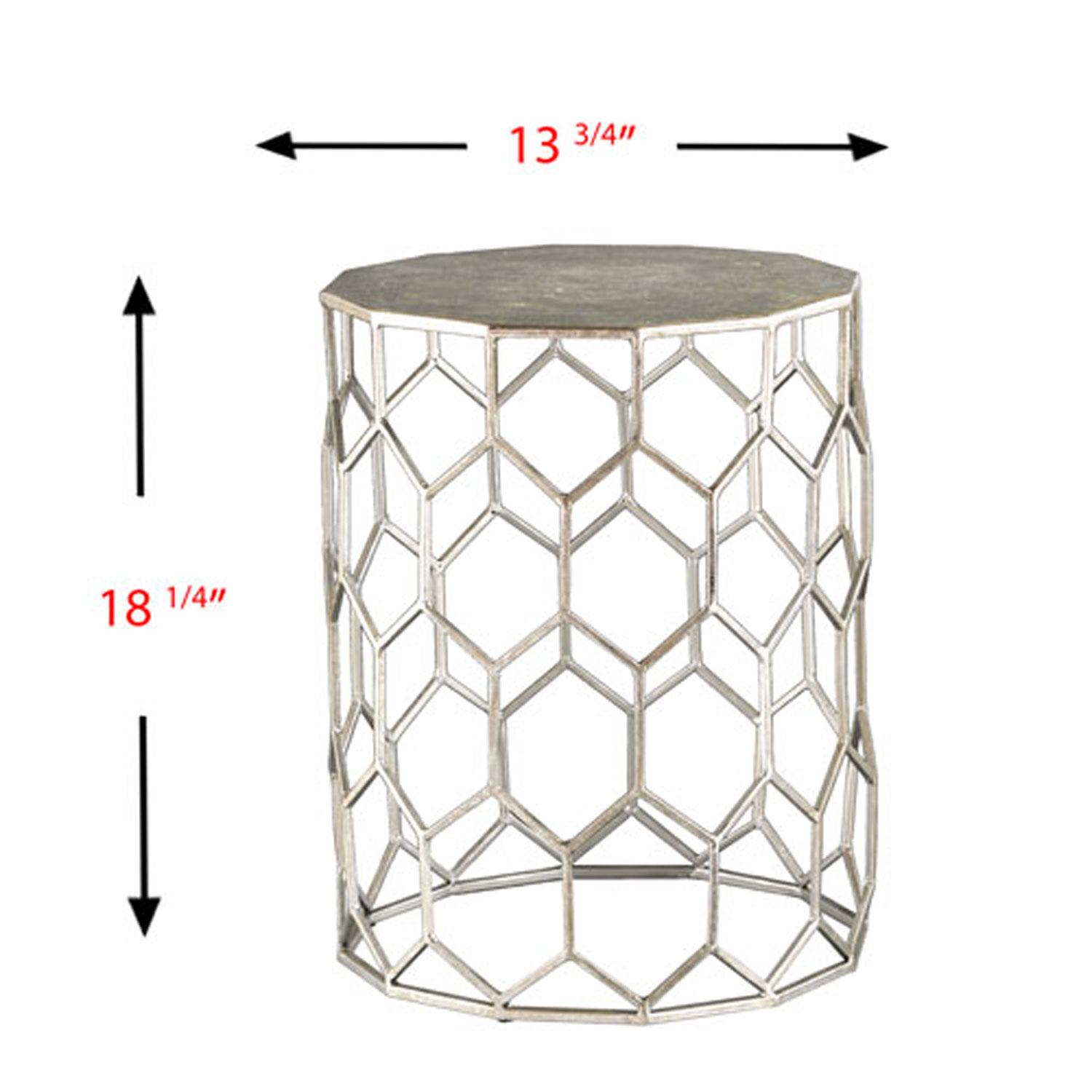first monroe silver metal accent table bellacor pedestal hover zoom glass top lamp coffee sets clearance dorm room furniture floating corner desk safavieh home collection brogen