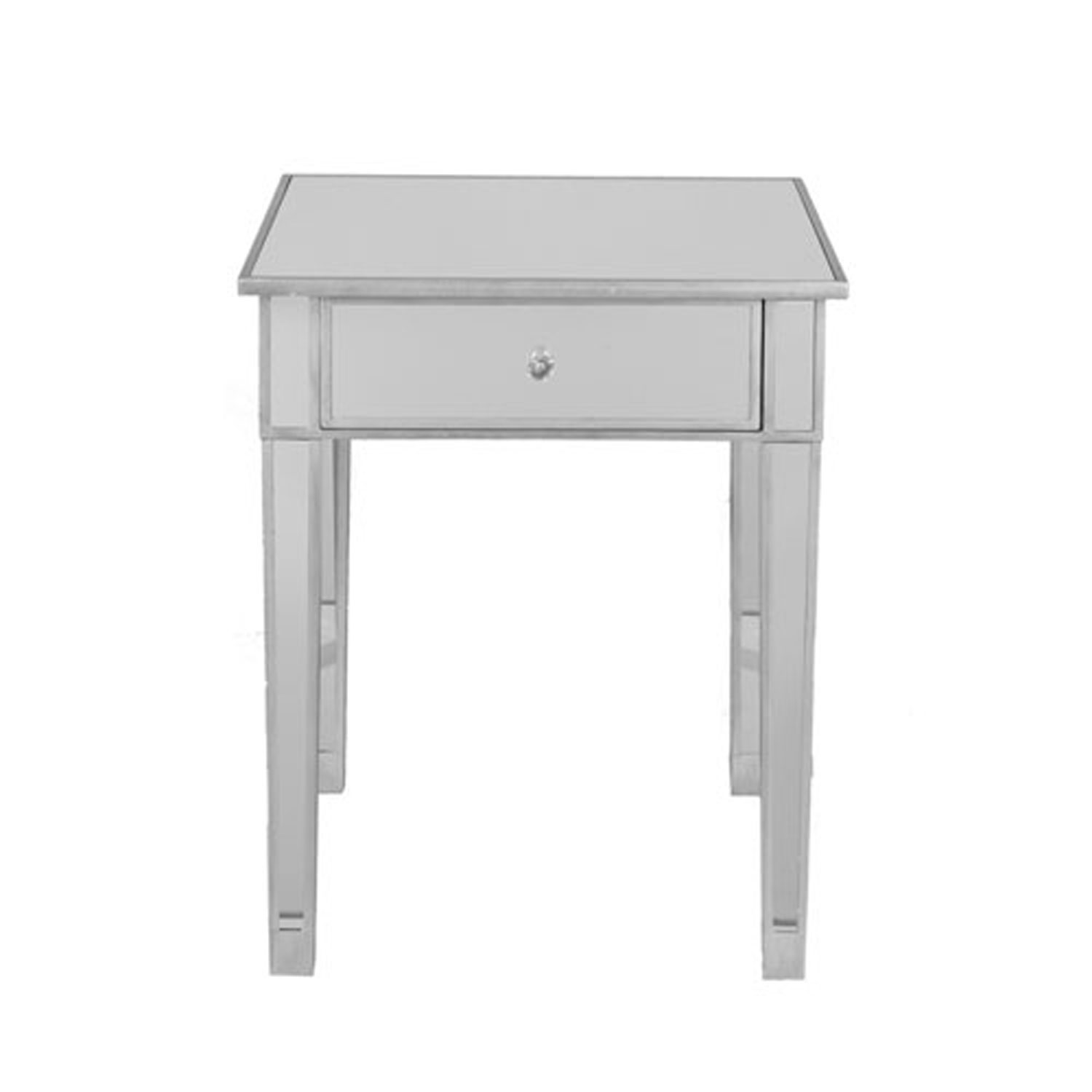 first vivian silver mirrored accent table bellacor with drawer hover zoom marble living room nautical style chandeliers west elm storage universal broadmoore furniture pier