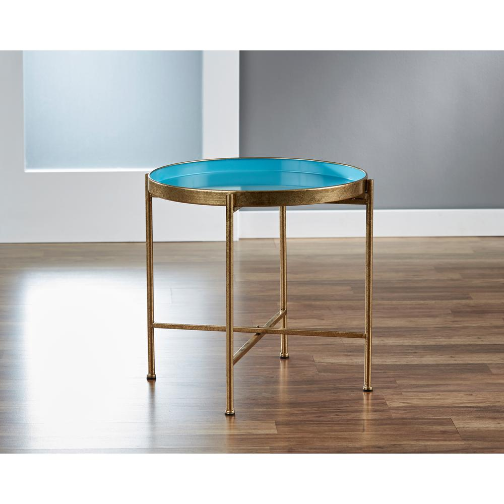 firstime large gild pop blue tray table products white accent tiffany peacock floor lamp ethan allen ballan patio lounge chairs clearance brass nesting tables raw wood end astoria