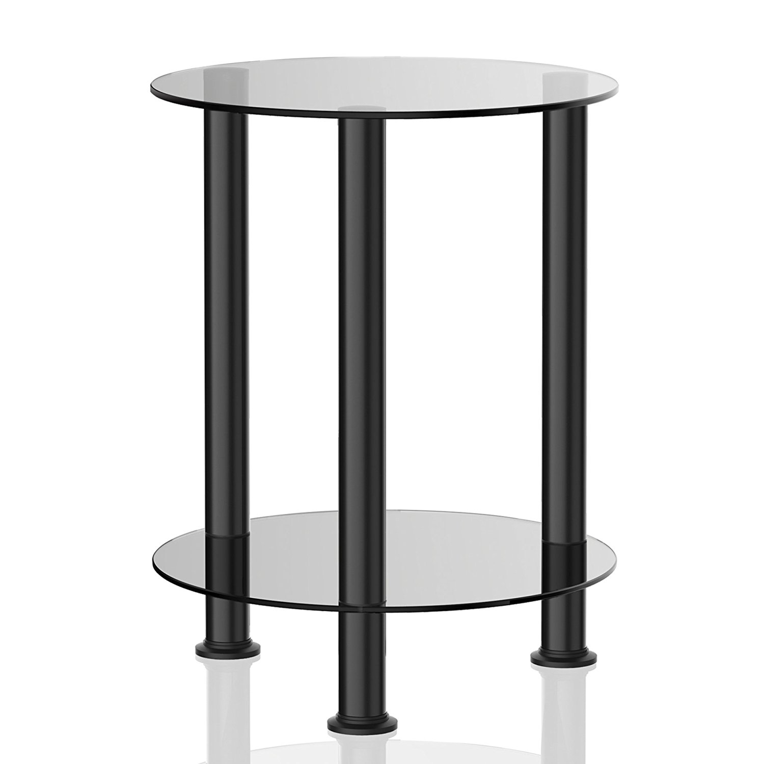 fitueyes grey glass end table accent side coffee black pottery barn round chair danish mid century modern red tables decor rustic furniture edmonton media console folding bedroom