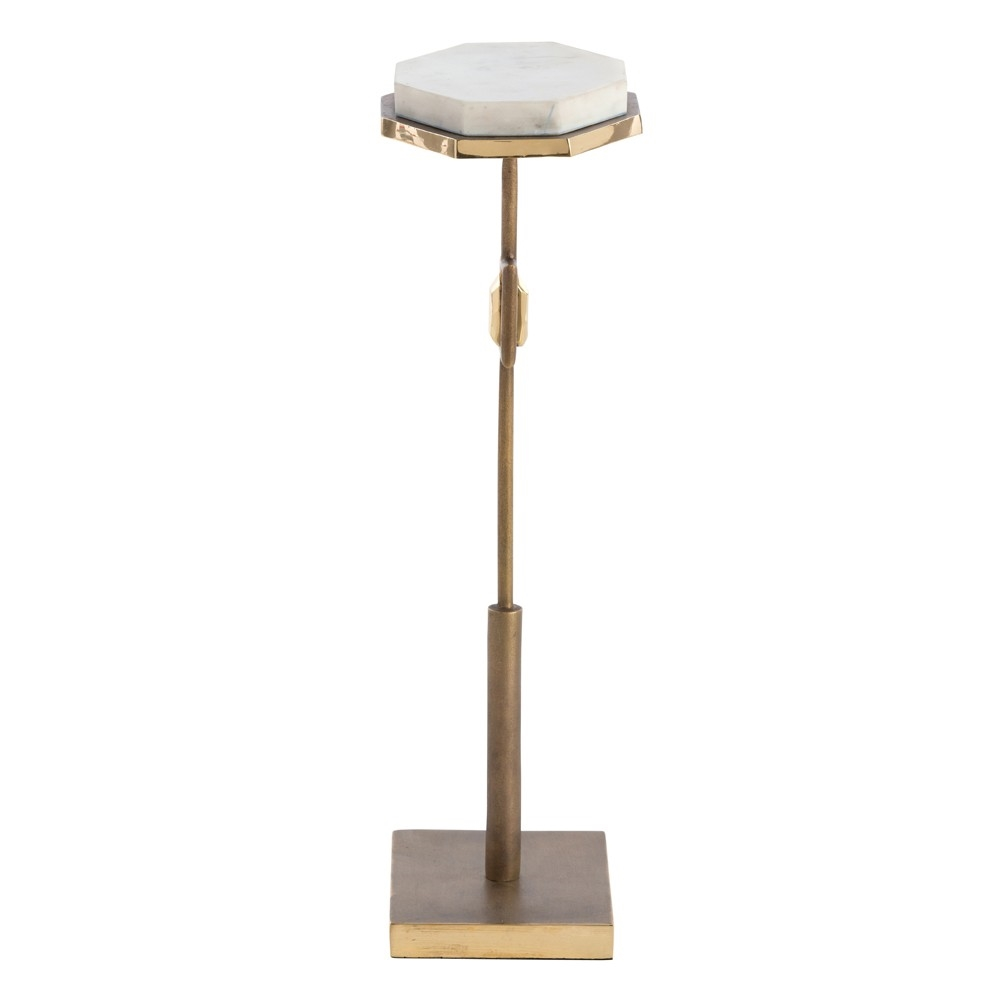 fitzgerald brass marble accent table drum modern farmhouse coffee cherry chairside floor mirror barn door dimensions pier white wicker furniture chairs cool end ideas teal decor