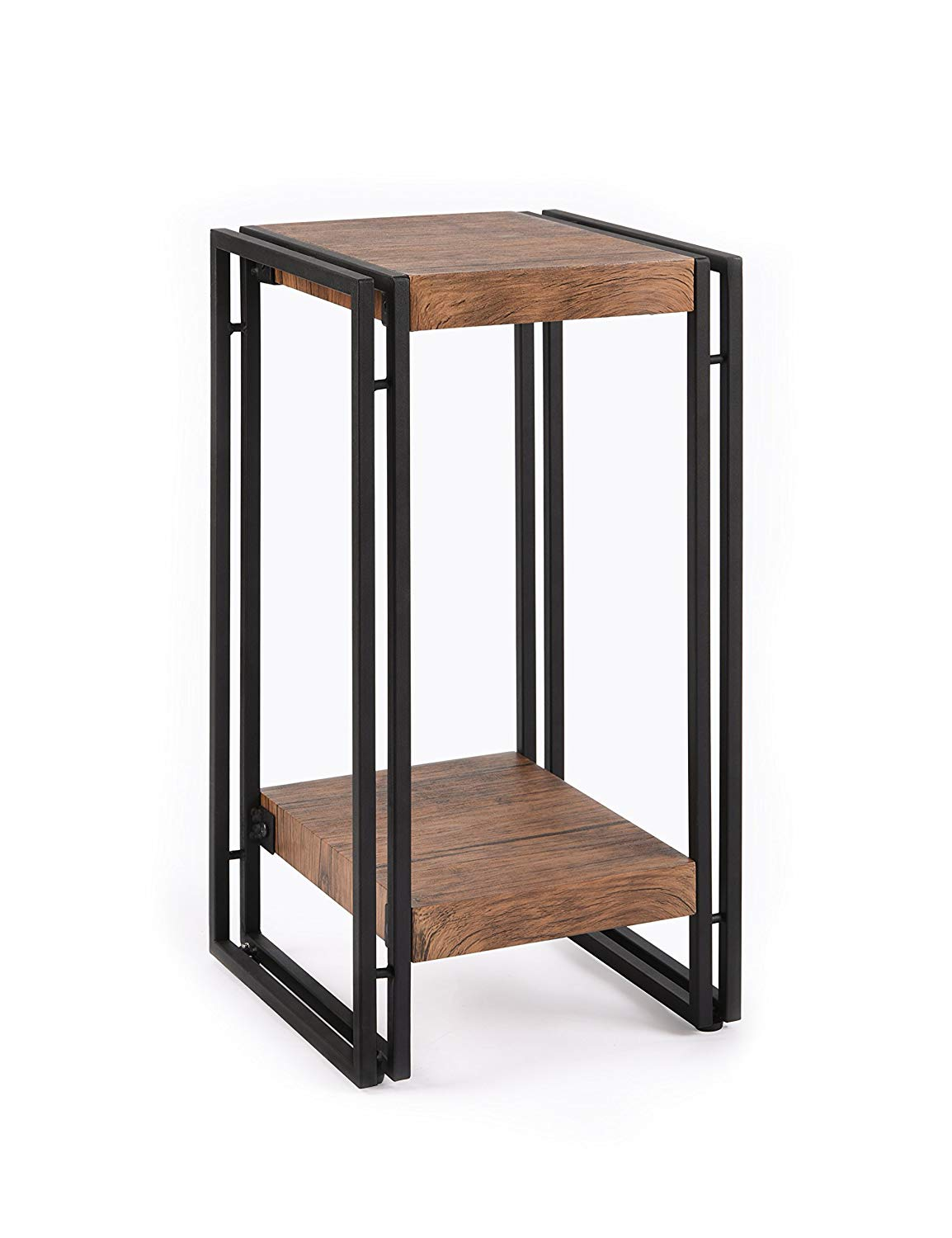 fivegiven accent side table for small spaces end set rosewood tall tables coffee brown living room bedroom modern wood and metal kitchen dining diy indoor puppy pen allen with