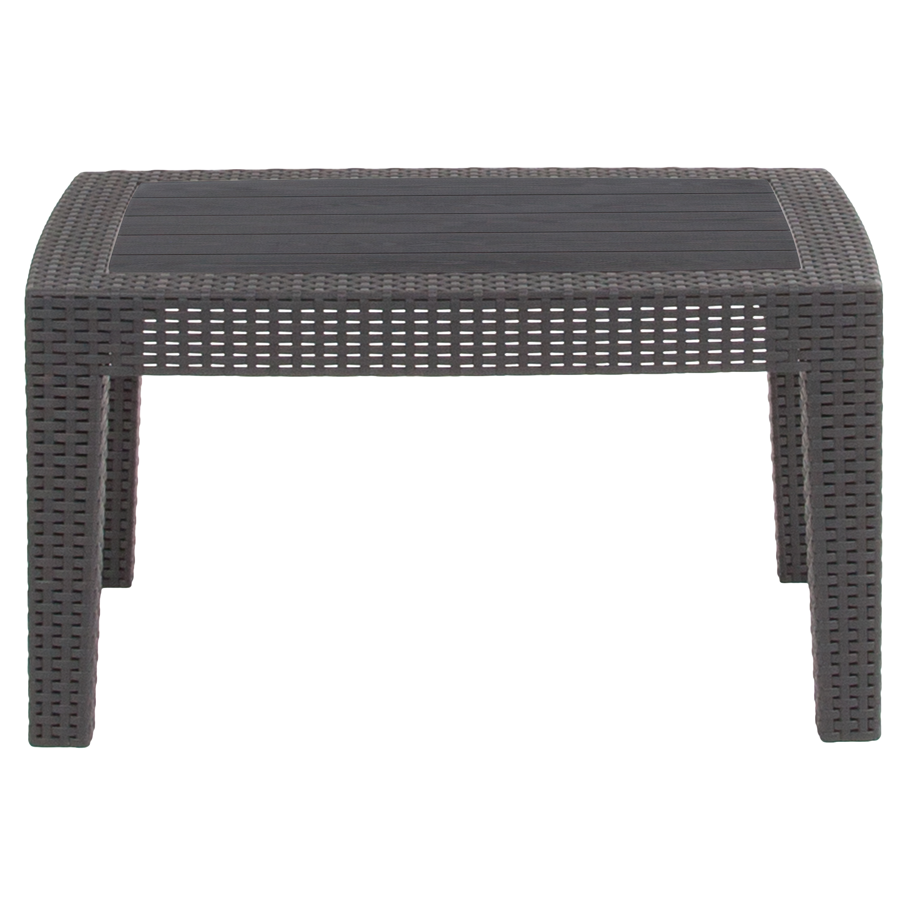 flash furniture dark gray faux rattan coffee table outdoor accent black tables new for sectional antique dining decoration ideas parties small with umbrella hole vintage marble
