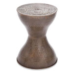 flat top bronze metal accent table bobs gallery large slider living room furniture design whole lamp shades inch square tablecloth diy coffee mosaic tile entryway bench base sisal 150x150