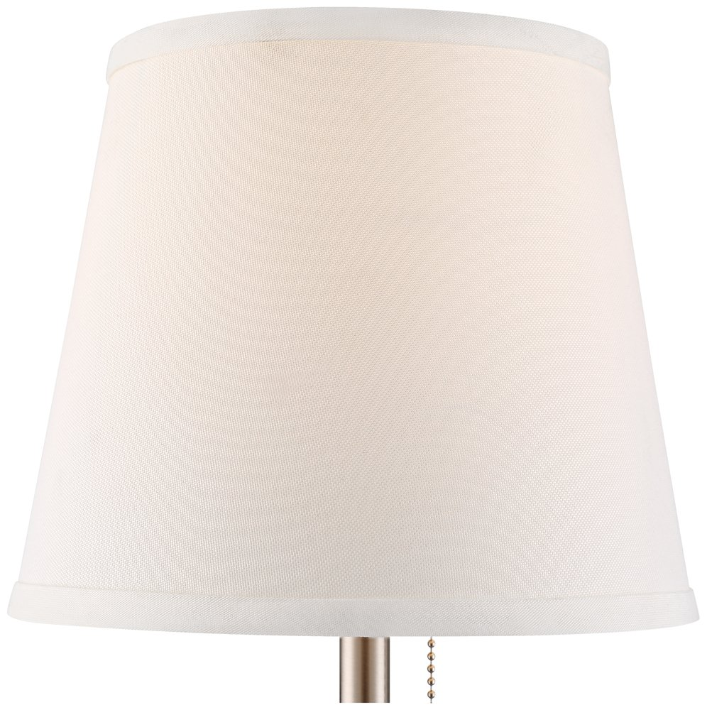 flesner brushed nickel accent table lamp with usb port heyburn steel formal dining room sets ikea garden shed storage slipper chair pier one imports lamps armless living chairs