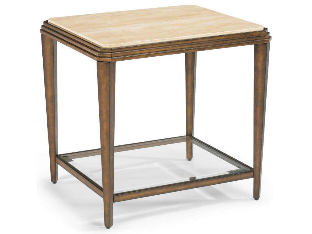 flexsteel seville metal end table with marble top coconis products color carmen accent furniture mattress entryway cabinet silver coffee round console pier one seat cushions inch