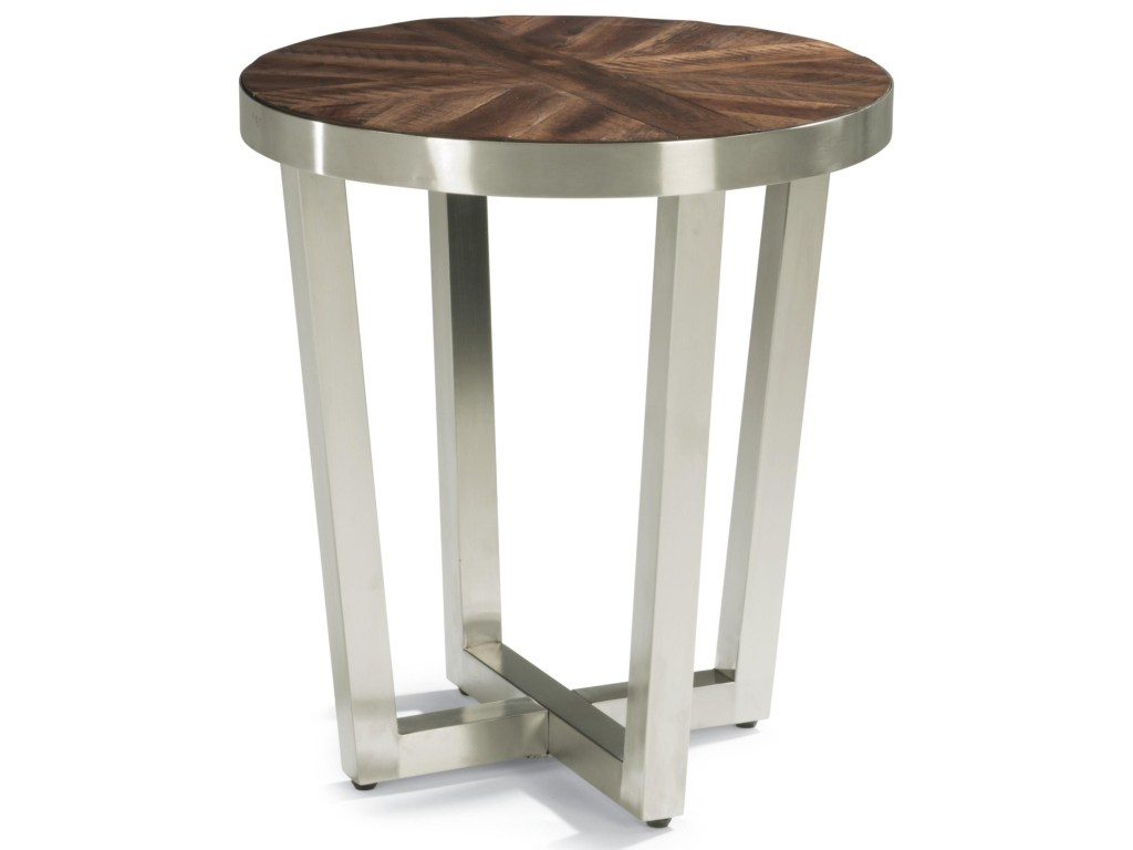flexsteel wynwood collection axis contemporary chairside products color threshold parquet accent table with design dark blue coffee french style furniture pork pie drum throne