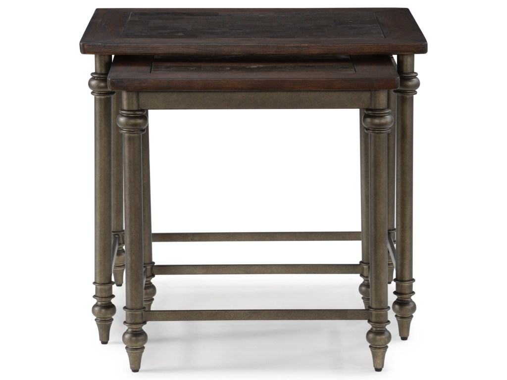 flexsteel wynwood collection herald traditional nesting products color threshold parquet accent table heraldnesting tables tall dining room sets unique drawer pulls cute bedside