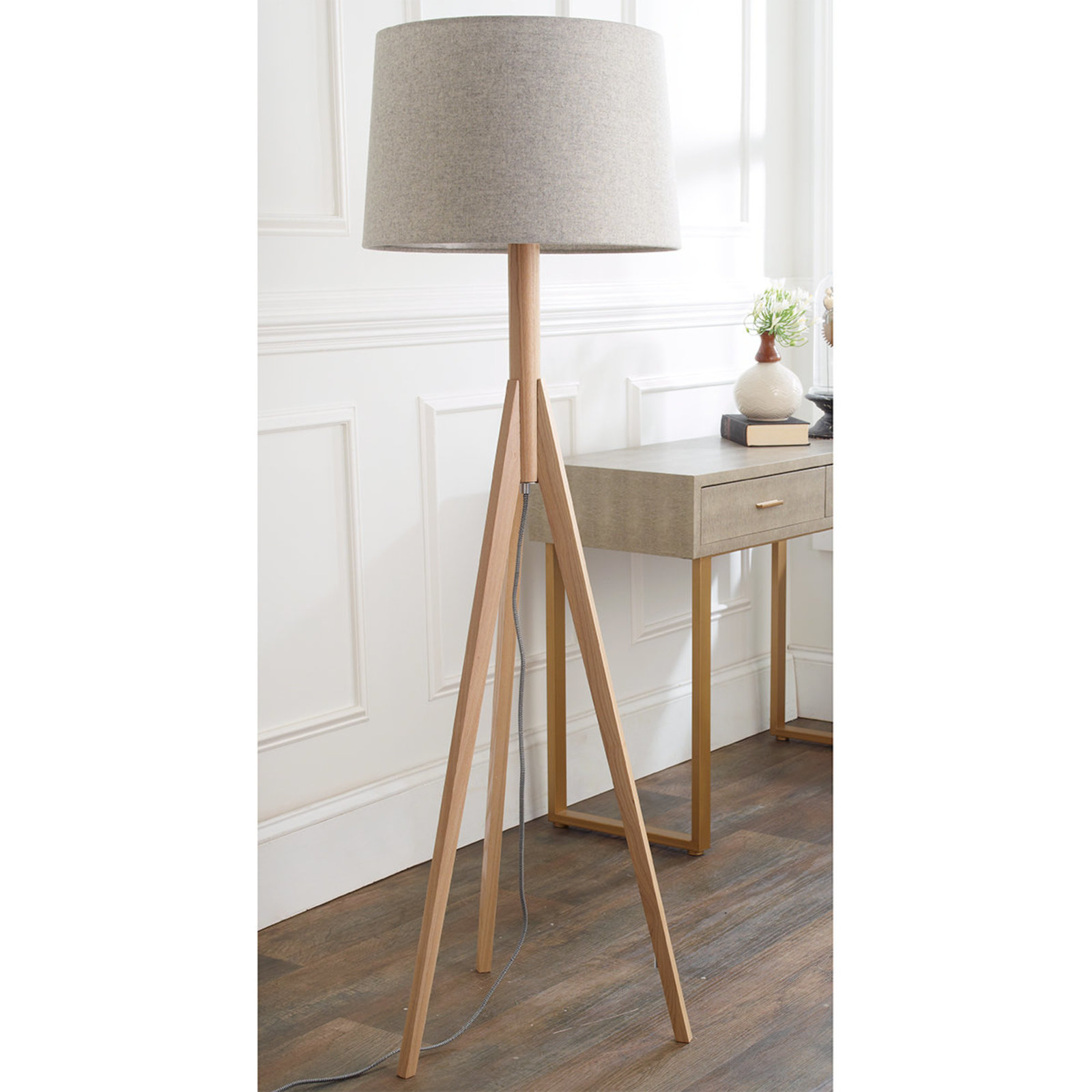 floor lamps modern contemporary designs shades light mini tripod lamp frosted glass cylinder accent table grey patterned armchair rechargeable battery powered height console