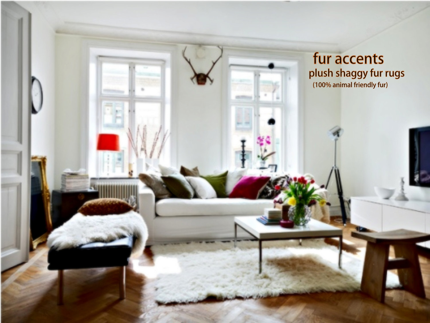 flooring rugs cool handmade faux sheepskin rug with wood tile attractive bench and sofa plus coffee table window treatment parquet cozy room design using warm tejn accent target