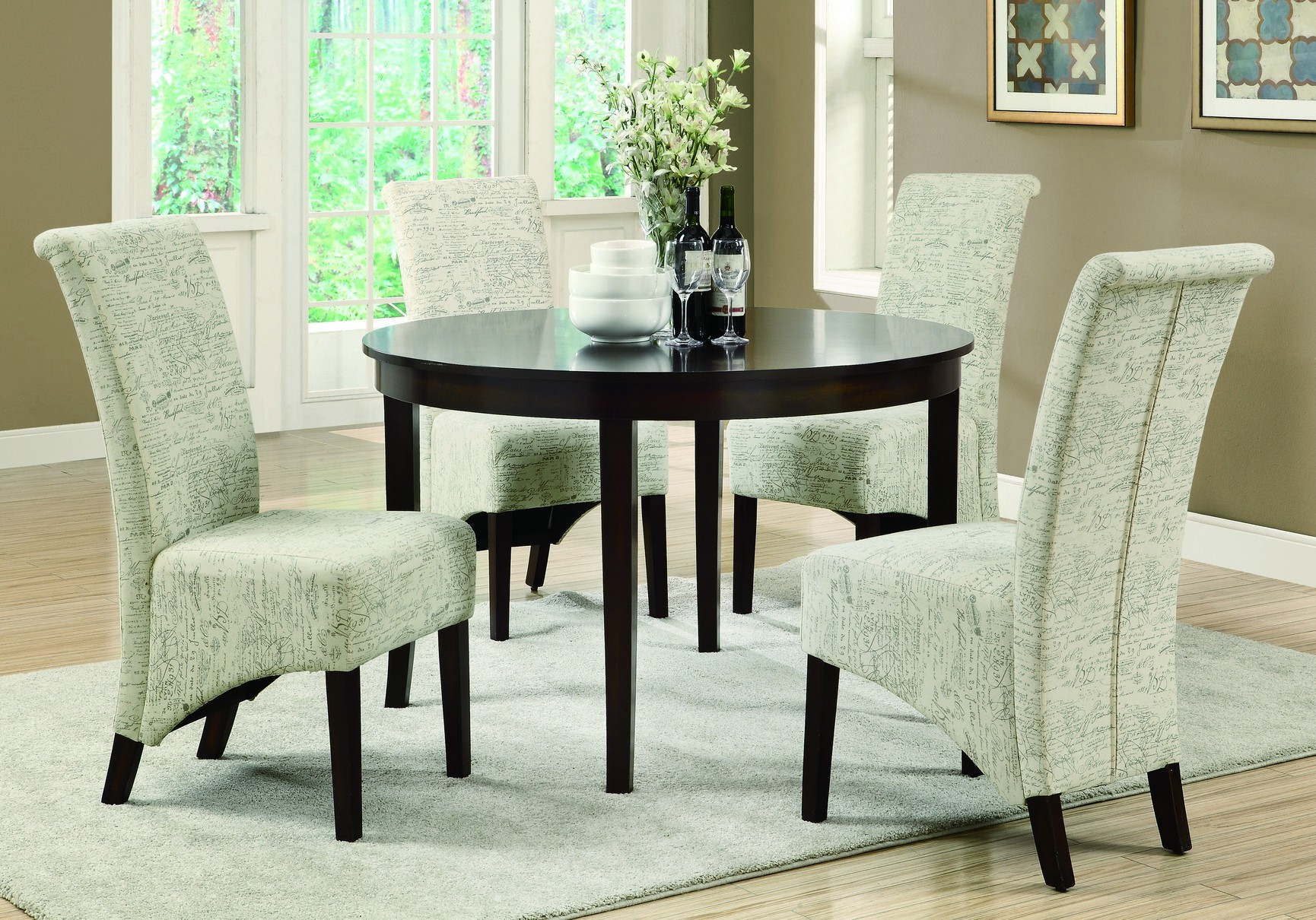 flooring rugs inspiring and lucite armchair also side cosy dining room design with set window treatment wood impressive complement any your home fascinating area indoor ceramic