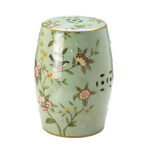 floral ceramic garden stool outdoor decorative patio side table stock ture white linen runner how met your mother yellow umbrella circular furniture covers for lamp iron homesense 150x150