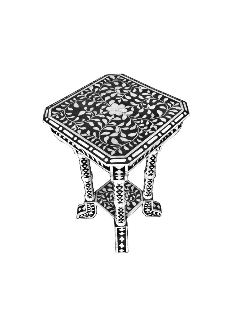floral pattern bone inlay accent table favors handicraft wood bench for living room cabinets with glass doors tuscan hills high round metal side wrought iron end marble top