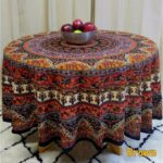 floral tablecloths our best table handmade mandala and elephant printed cotton tablecloth available red blue brown two sizes round accent cloths linens decor black marble top 150x150