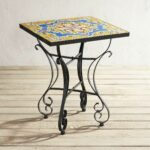 florence mosaic accent table pier imports wish list ceramic outdoor side metal clarissa eileen gray black and grey rug garden cooler painted coffee ideas dale tiffany hummingbird 150x150