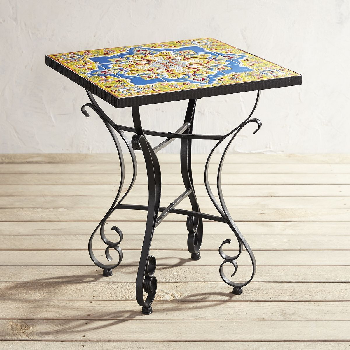 florence mosaic accent table pier imports wish list ceramic outdoor side metal clarissa eileen gray black and grey rug garden cooler painted coffee ideas dale tiffany hummingbird