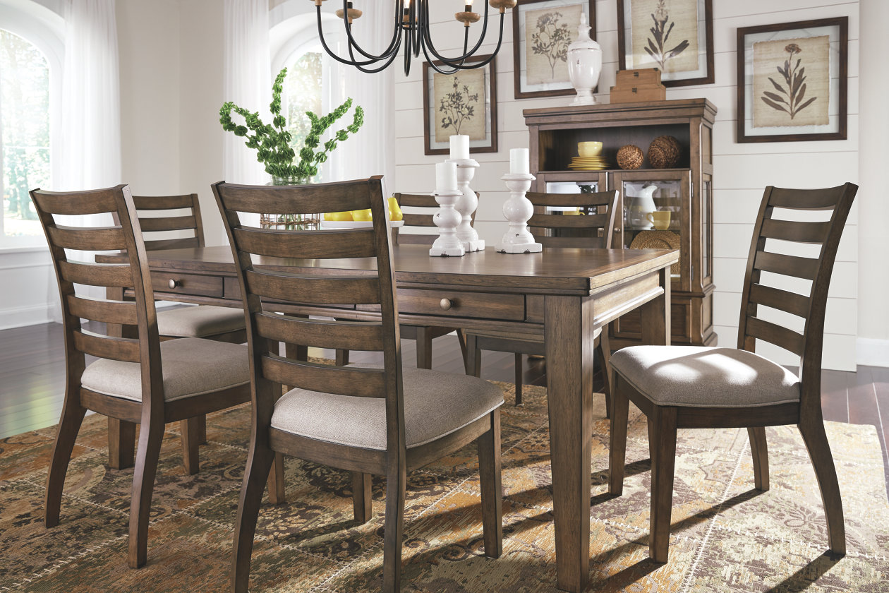 flynnter dining room table ashley furniture home mood with accent chairs tall square end console bar height wood cordless mini lamp glass round nesting tables ikea small coffee