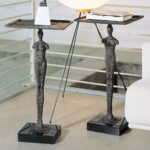 fogerty sculpted iron figurine rectangular accent drink end table man product view full size odd coffee tables corner design battery operated lamps lighting tall skinny mapex drum 150x150
