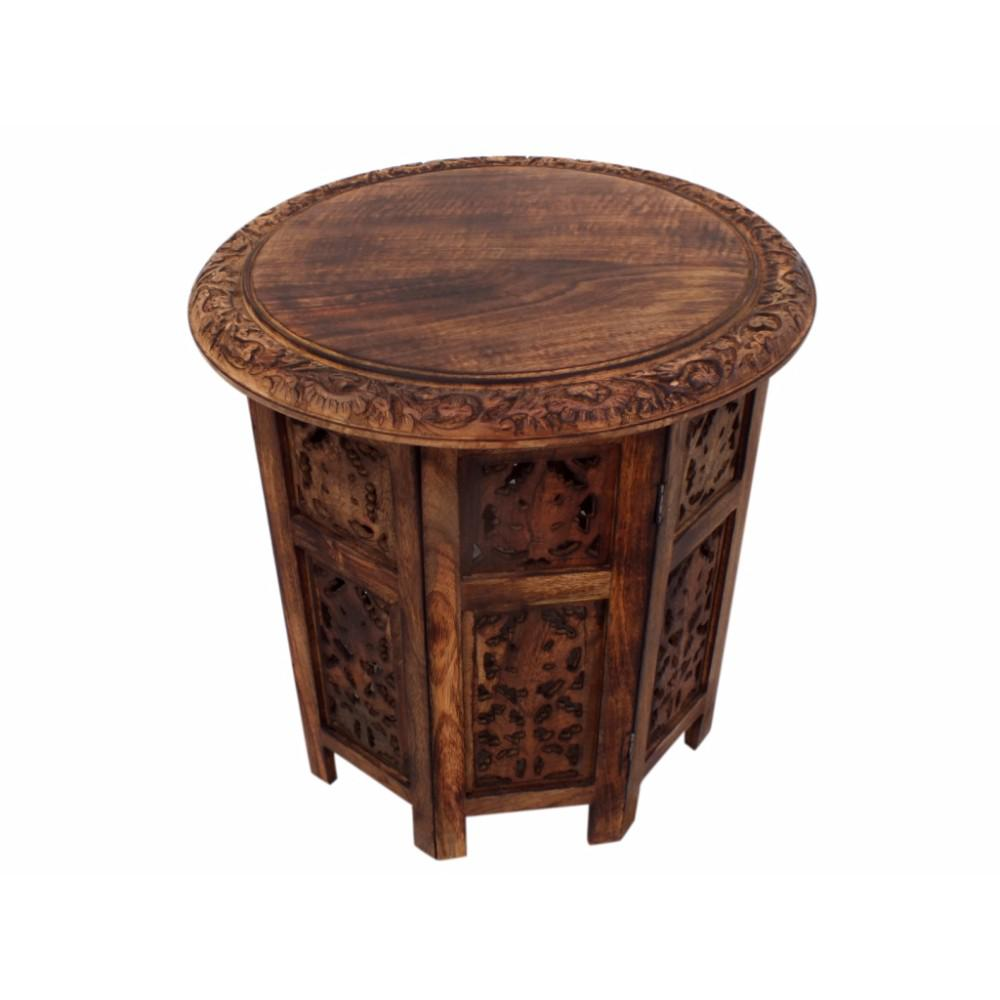 folding accent coffee table carved mango wood foldable brown finish the urban port tables upt kirklands chairs cute lamps for bedroom white counter height set small legs porcelain